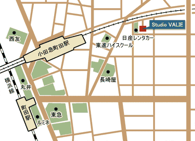 Studio VALIE アクセスマップ