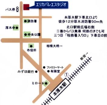 エリカバレエスタジオ地図